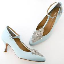 So refreshing Pale blue silk vintage wedding shoes featuring