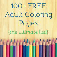 100 Free Adult Coloring Pages