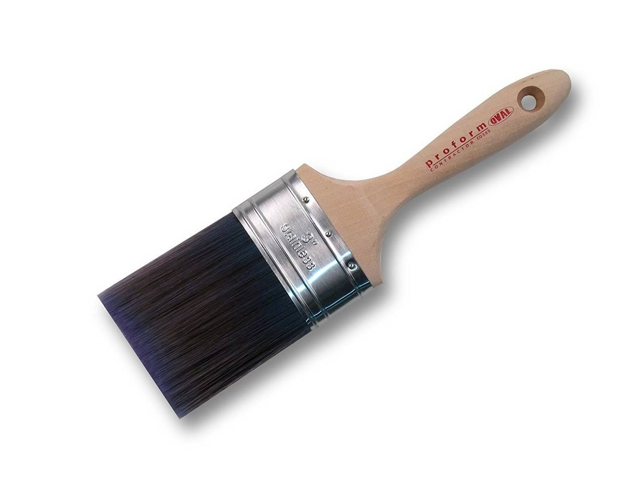 Proform Technologies Oval Straight Cut Blend Paint Brush - 3""
