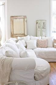 Furniture Shabby Chic Decor With Cool Door White Color And Small Window Cozy Sofa Pretty Cushions Natural Wooden Floor