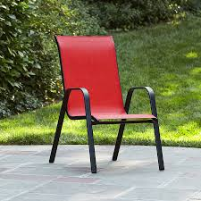 Stackable Outdoor Sling Chairs by Green Sling Stackable Patio Chair Patio Outdoor Decoration