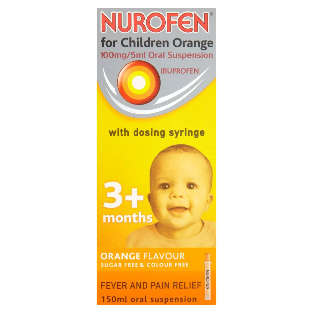 Nurofen For Children Ibuprofen Oral Suspension - Orange, 150ml