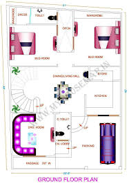 30 X 30 House Floor Plans by 30 40 House Plan East Facing Additionally 30 X 45 House Plans Together