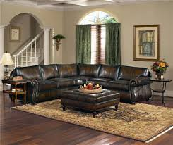 Broyhill Laramie Microfiber Sofa In Distressed Brown by Exquisite Leather And The Perfect Proportions For Your Living Room