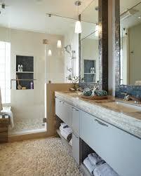 glamorous pebble tile mode other metro eclectic bathroom image