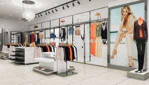 Fashion Clothes Store Decoration For Lady Shopping