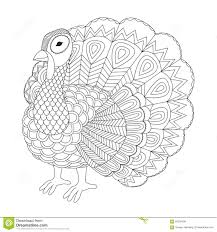 Royalty Free Vector Download Detailed Zentangle Turkey For Coloring Page Adult