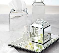 Pottery Barn Sea Glass Bathroom Accessories by Mirrored Bath Accessories Pottery Barn
