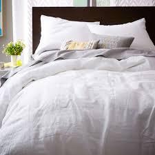 Belgian Flax Linen Quilt Cover Pillowcases White West Elm