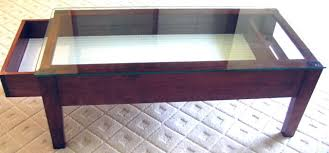 Coffee Table With Glass Display Case Throughout Inspirations 16