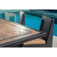 Sirio Patio Furniture Covers Canada by Sirio Niko 7 Piece Patio Furniture Dining Set Camel Amazon Ca
