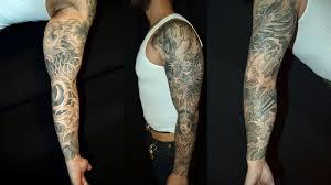 Black And Grey Tattoos Sleeves Ideas