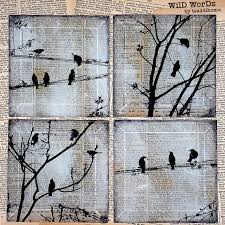 Painting With Newspaper And Black White Paint