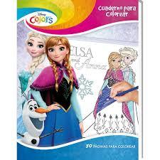 Libro Para Colorear 80 Paginas Frozen Golden Toys