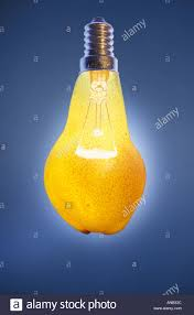 digital composite of a light bulb which is called a glow pear in