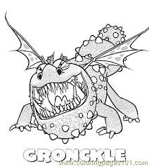 Gronckle Coloring Page