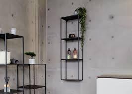 metallregal aus edelstahl badregal schwarz matt 100x30x30cm