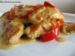 recette escalopes de dinde aux poivrons et à la crème 750g