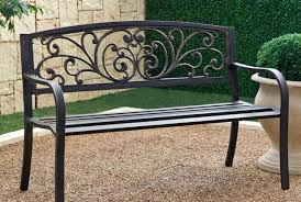 Vintage Wrought Iron Porch Furniture by Bench Stunning Iron Garden Bench Stunning Scottish Thistle Motif