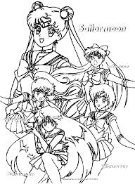 Sailor Moon Coloring Pages 6