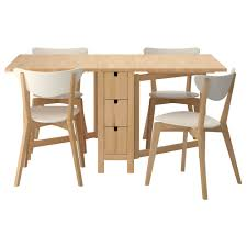 Natural Cherry Wood Narrow Dining Tables For Small Spaces
