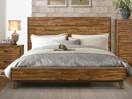 Platform Bed Frame Queen Chocolate Wooden Platform Bed Pink Floral