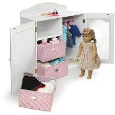 Smart Design 6 18 Doll Armoire Wardrobe Our Generation Vanity