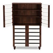 Simms White Modern Shoe Cabinet by Furniture Impressive Baxton Studio Shoe Cabinet Spectacular