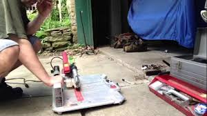 Skil Wet Tile Saw 3550 by Tool Review Skil Flooring Saw Youtube