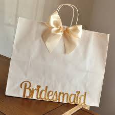 Bridesmaid Bags For Hangers Extra Large White Paper With Handle Confetti Momma