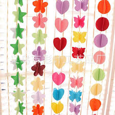 180cm Wedding Celebration Supplies Three Layers Dimensional Colour Paper Garland Party Background In Banners