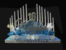 Winter Wonderland Elevated Candelabra With Name