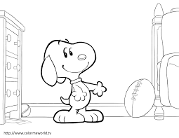 Snoopy And Woodstock PDF Printable Coloring Page