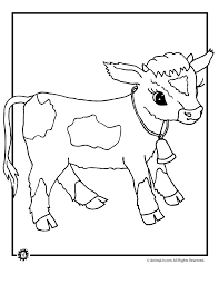 Cow Coloring Pages Baby Page Animal Jr
