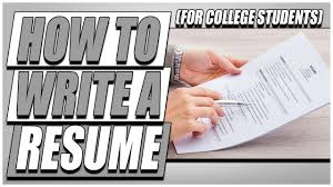 How To Write A Resume (For College Students) - YouTube How To Write A Profile On Resume Examples Luxury Photos New Sample Example College Student Athlete Of After Without 3 Easy Ways A With Pictures To Internship Letter In Finance For Recent Graduate No Experience Free Dance For Grad Education Section Writing Guide Genius Resum Make As Digitalprotscom Craft Wning Land An Offer From Google 2019 Resumesample