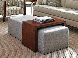 Coffee Table Storage Ottoman With Tray Living Table Ottoman bo