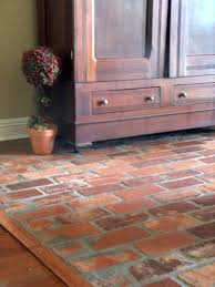 brick flooring similar to the one on the screened in porch