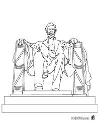 Lincoln Memorial Statue Coloring Page