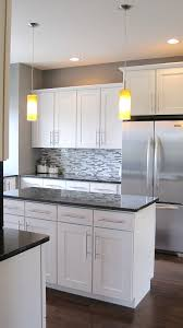 White Cabinets Dark Countertop Backsplash by Best 25 White Kitchen Cabinets Ideas On Pinterest Painting