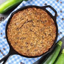 Chocolate Chip Zucchini Skillet Cake