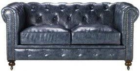 tufted blue sofa foter