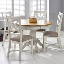 Bordeaux Painted Ivory Round Extending Dining Table + 4 Chairs ... Kitsch Round Glass Table Set Of 4 Chairs Dfs Ireland Mcombo Mcombo Ding Side 4ding Clear Ingatorp And Chairs White Ikea Cally Modern Table With La Sierra Fniture Grindleburg 60 Woodstock Carisbrooke Barker Stonehouse Dayton 48 Upholstered Shop Hlpf5cap 5 Pc Small Kitchen Setding Hanover Traditions 5piece In Tan A Jofran Simplicity Chair Slat Back Pier 1 W Aptdeco Rovicon Lulworth Pedestal