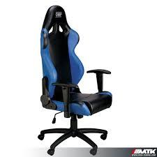 siege omp d coratif fauteuil de bureau baquet siege omp simili bleu mtk