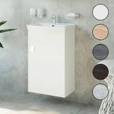 waschbecken mit unterschrank 2tlg waschtisch badmöbel set 45
