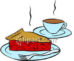 A Slice Cherry Pie With A Cup Coffee Royalty Free Clip Art Picture