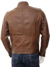 mens brown leather jacket benton men caine
