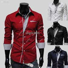 online cheap s5q men u0027s stylish dress shirt casual long sleeve slim