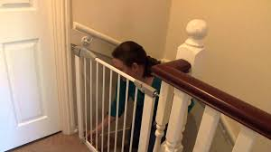 Lindam Pressure Fit Stair Gate - Customer Review Video | Naomi ... Best Solutions Of Baby Gates For Stairs With Banisters About Bedroom Door For Expandable Child Gate Amazoncom No Hole Stairway Mounting Kit By Safety Latest Stair Design Ideas Gates Are Designed To Keep The Child Safe Click Tweet Summer Infant Stylishsecure Deluxe Top Of Banister Universal 25 Stairs Ideas On Pinterest Dogs Munchkin Safe
