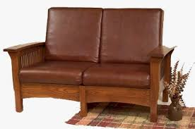 Endearing Mission Furniture Sofa Style Upholstered In Oak Maple Or Cherry