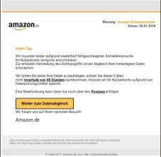 amazon si e amazon de phishing scam how to get rid of it